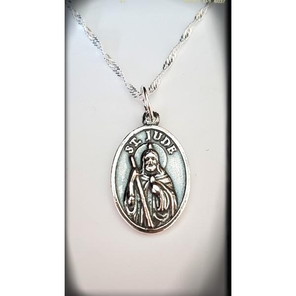 Medalla San Judas Tadeo Plata