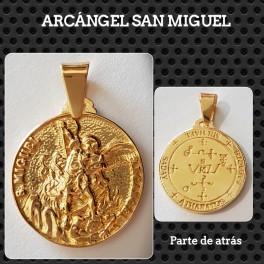 MEDALLA ARCÁNGEL SAN MIGUEL CHAPADA EN ORO