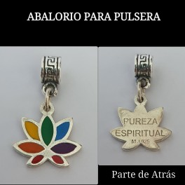 ABALORIO PARA PULSERA FLOR DE LOTO CHAKRAS